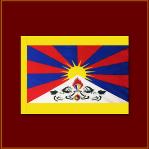 "Tibetan National Flag - 27""X 16"""