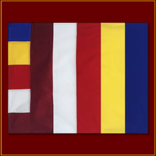 "Load image into Gallery viewer, Universal  Buddhist Flag - 46""x 35"""