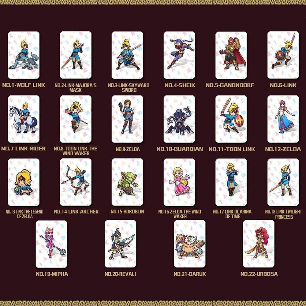 NFC Tag Cards for The Legend of Zelda Breath of The Wild(22 pcs)-Funlab