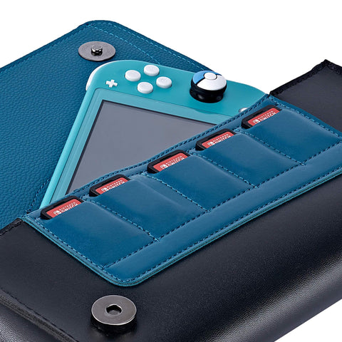 Leather Carrying Case for Nintendo Switch Lite(Snorlax)