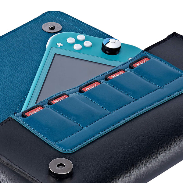 Leather Carrying Case for Nintendo Switch Lite(Snorlax)-Funlab