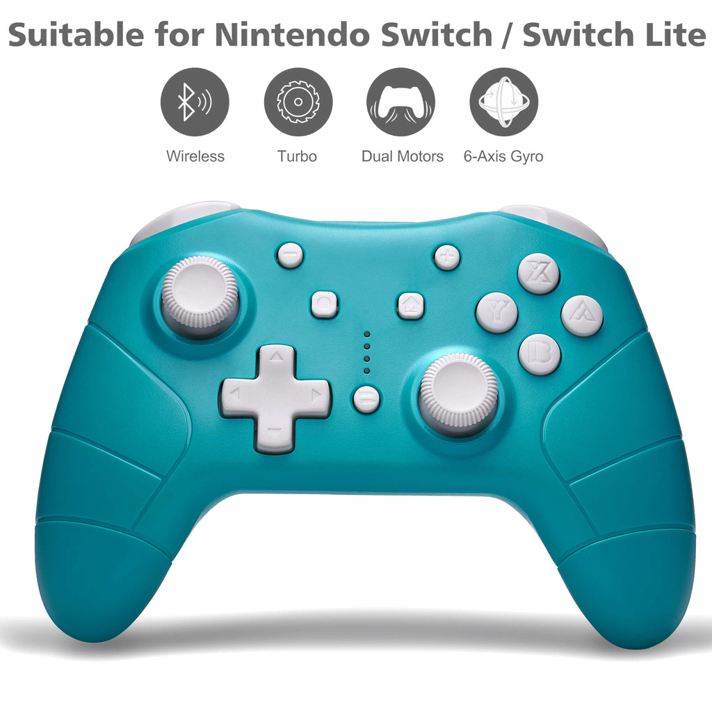 FUNLAB Pro Controller for Nintendo Switch/Switch Lite (Turquoise)-Funlab