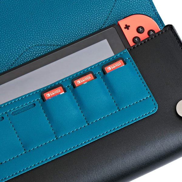 Leather Carrying Case for Nintendo Switch(Snorlax)-Funlab