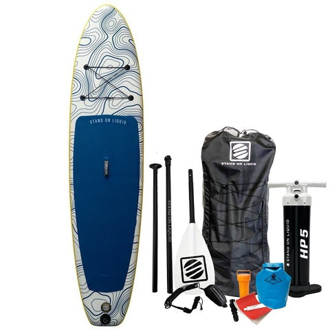 Stand on Liquid: Avid4 Caspian Air Stand up Paddle Board Package New