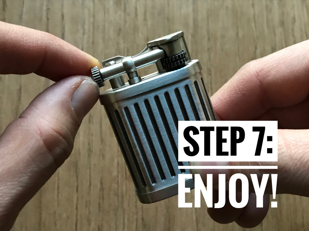 how to replace flint in butane lighter