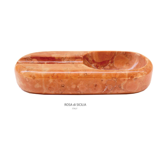 Rosa di Sicilia Marble Cigar Ashtray