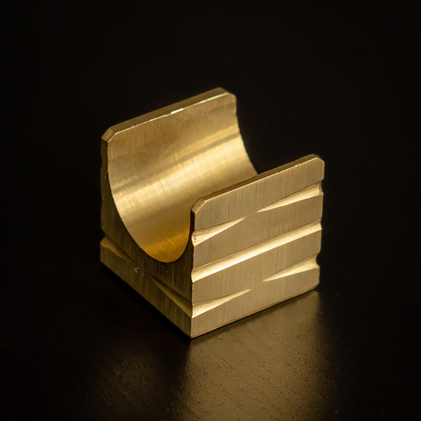 Brass Cigar Stand Groove Design