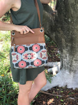 Melbourne Bag - Butterfly Mandala – Vegan Leather Cross-Body Handbag