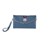Lulu Clutch - Love Birds - Vegan Leather Clutch Purse Handbag