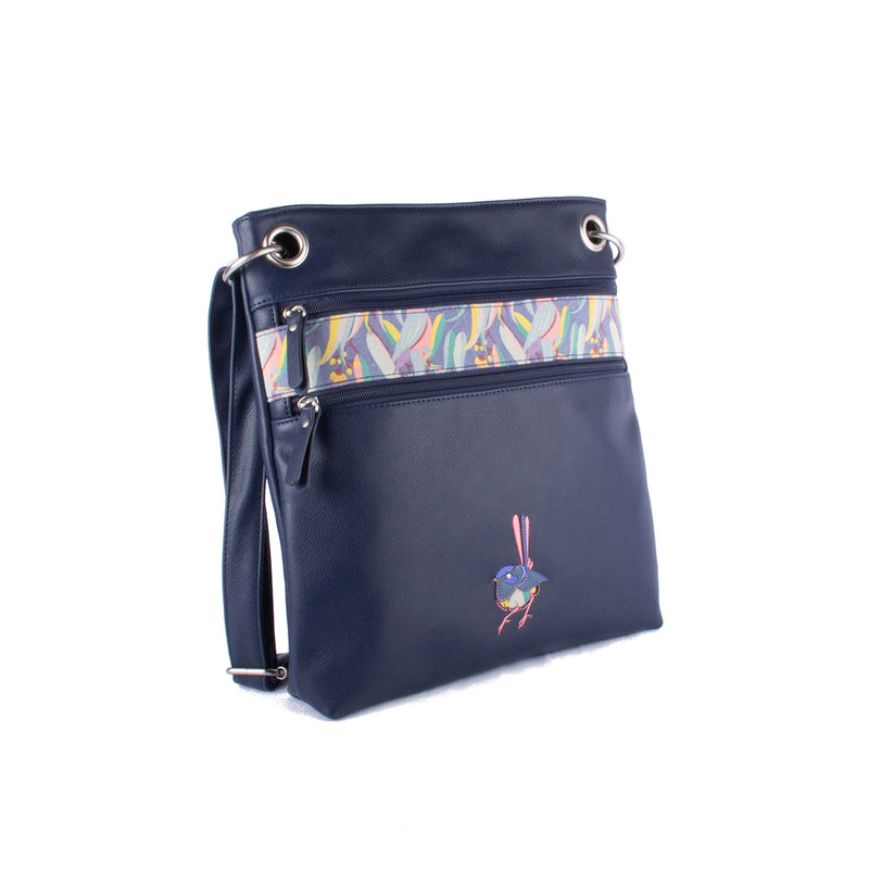Melbourne Bag - Twilight Manna Gum – Vegan Leather Cross-Body Handbag