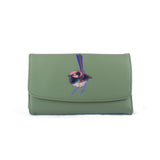 Three Fold Purse - Sunrise Waratah – Vegan Leather Purse