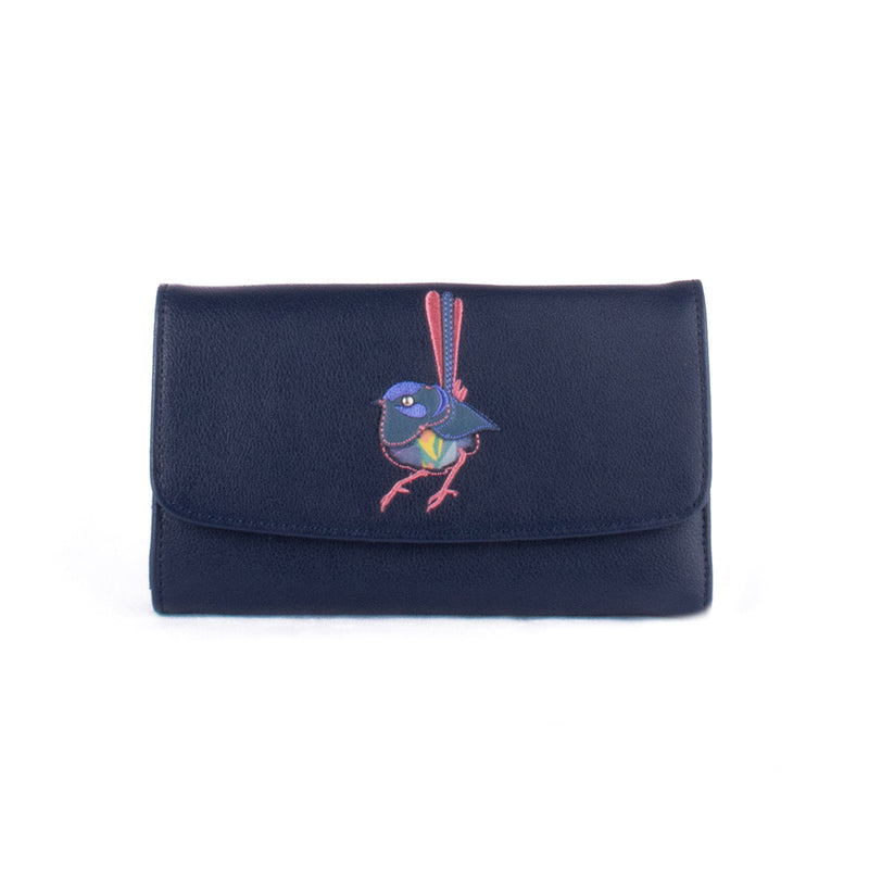 Three Fold Purse - Twilight Manna Gum – Vegan Leather Purse
