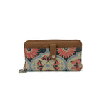 Zip Up Wallet - Butterfly Mandala – Vegan Leather Purse