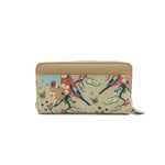 Zip Up Wallet - Blossom Time – Vegan Leather Purse