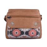 Traveller Bag - Butterfly Mandala – Vegan Leather Cross-Body Handbag