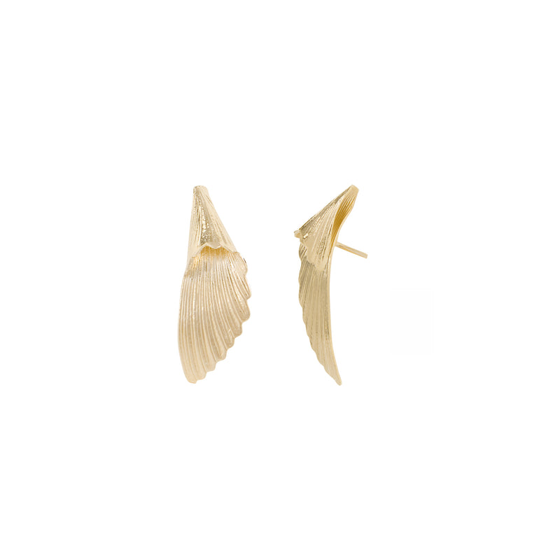 boucles d'oreilles twins naode paris plaqué or design ailes