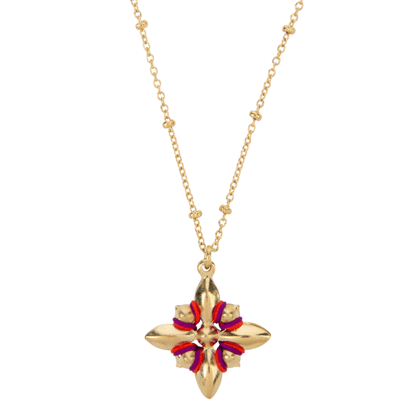 collier Holly Naode Paris rouge bijou brodé