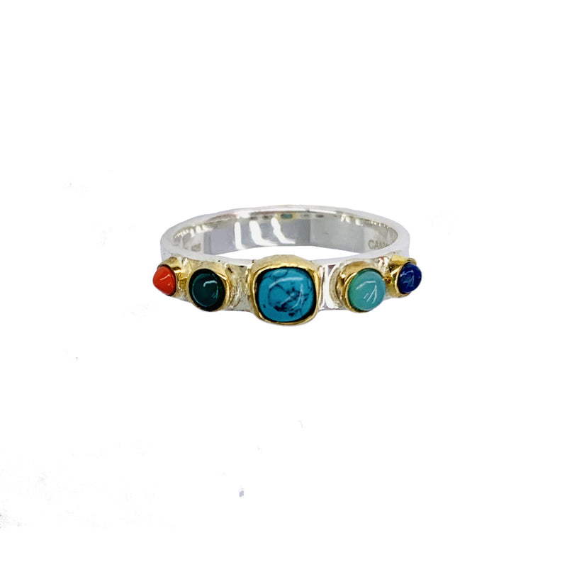 Bague multi pierres
