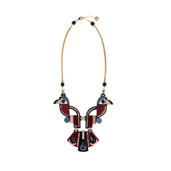 Collier TOUCAN Bordeaux