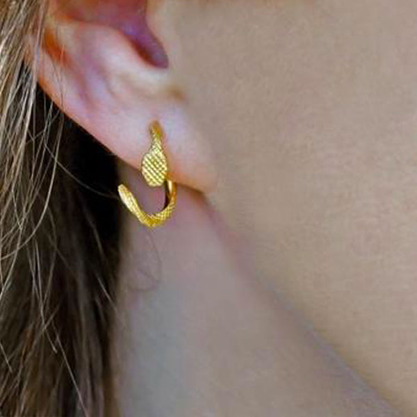 boucles d'oreilles serpent sport Jewellery handmade in Portugal