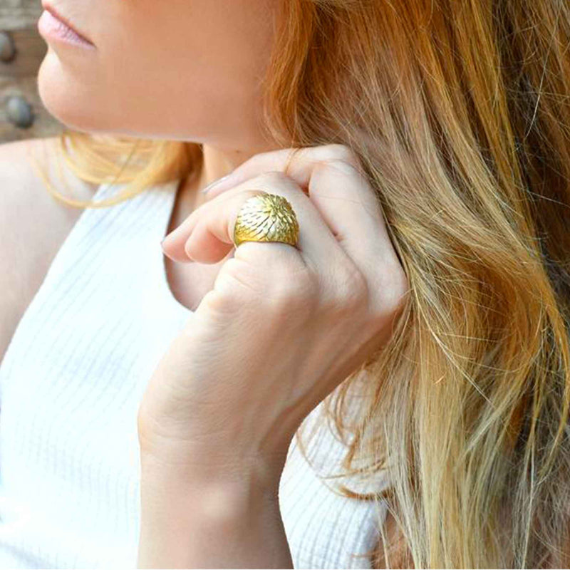 bague Sopro Jewellery Water Lily made in Portugal