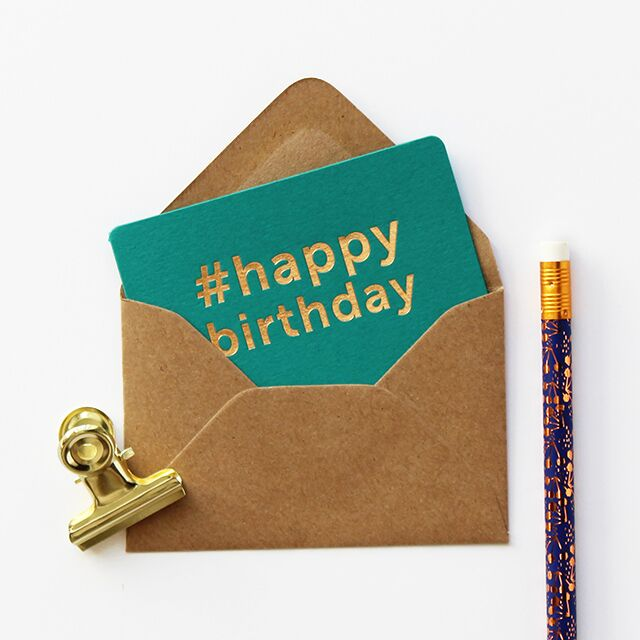 mini carte cadeau happy birthday vert emeraude