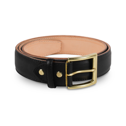 Black Classic Belt ( Gold Buckle )