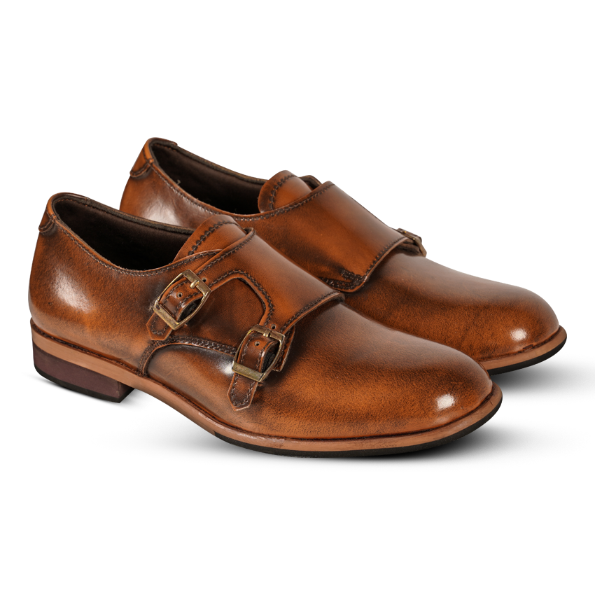 Gilly Monkstrap Tan Women