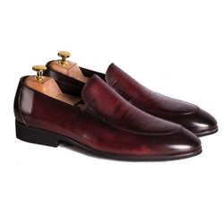 Croco Loafers Burgundy