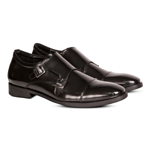 Damian Double Monkstrap Black