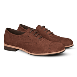 Gilly Brogues Suede Brown (Women)
