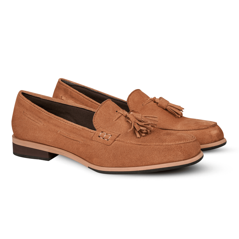 Gilly Tassel Suede Tan (Women)