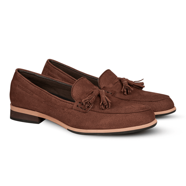 Gilly Tassel Suede Brown (Women)