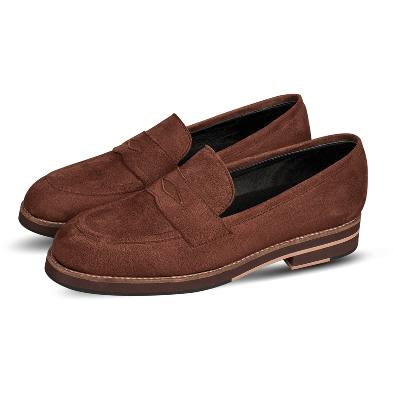 Blake Penny Loafers Suede Brown