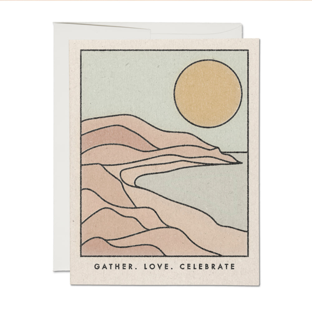 Gather Love Celebrate Notecard