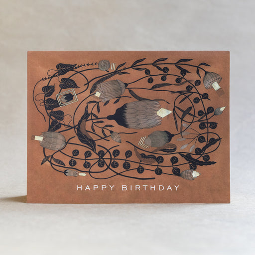 Happy Birthday Floral Notecard