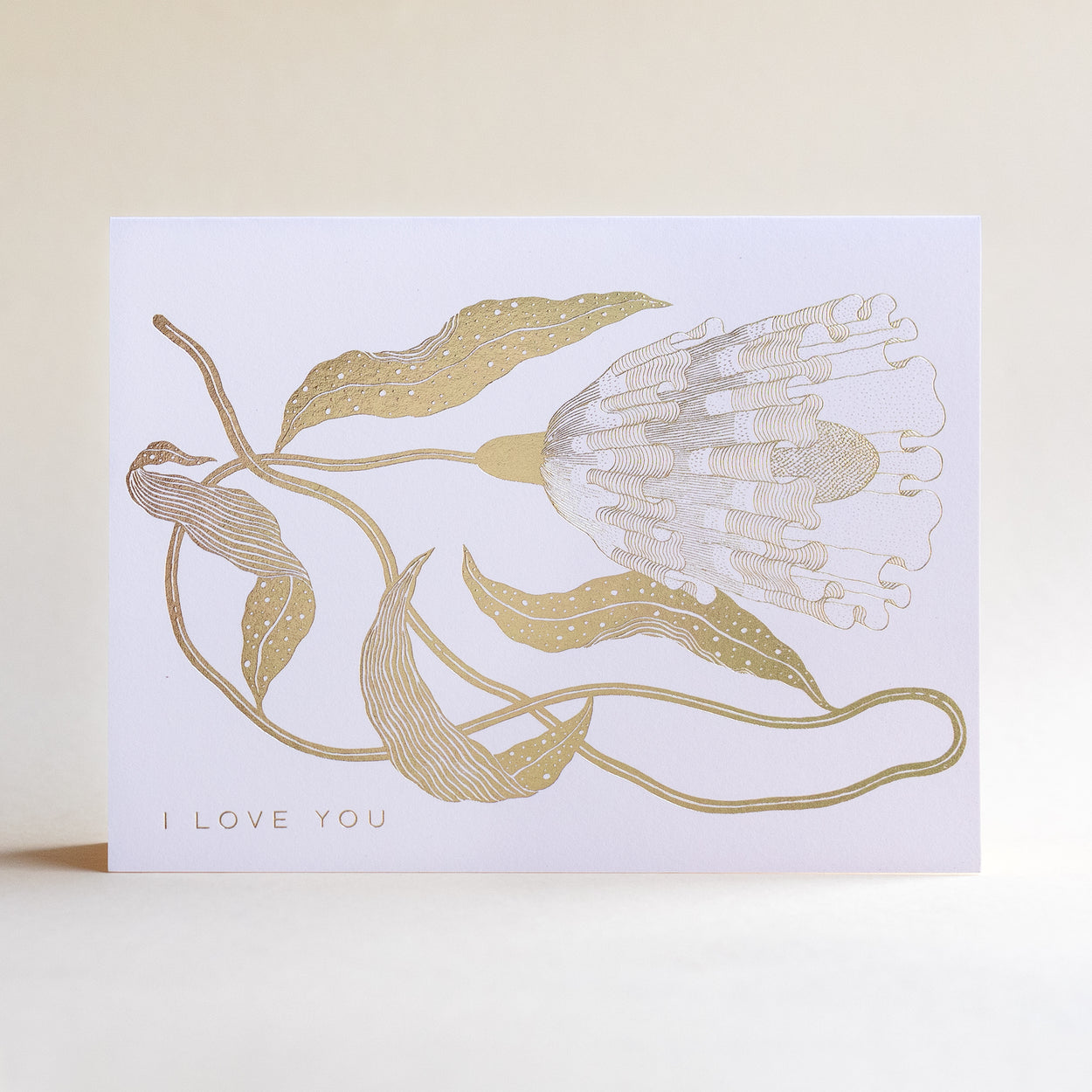 I Love You Floral Foil Notecard