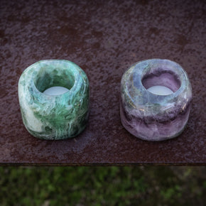 Votive Holder: Fluorite