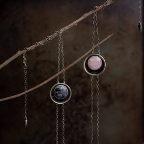Hekate Bolo Necklace: Rose Quartz
