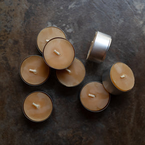Beeswax Candles: Tealight