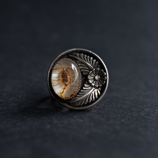 Luna Scorpion Ring