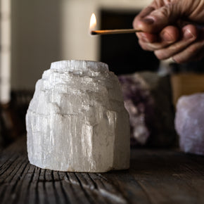 Votive Holder: Selenite