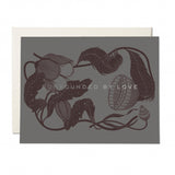 Surrounded By Love Floral Foil Notecard