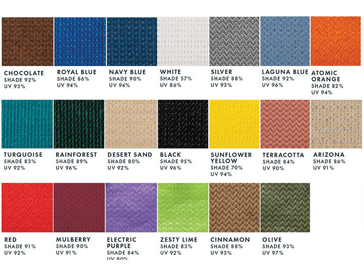WillyGoat Shade Fabric Colors