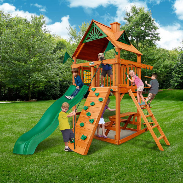 Chateau Tower AP Wooden Swing Set