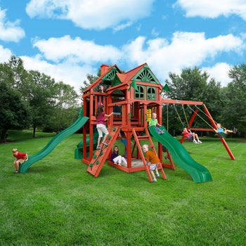 Five Star Deluxe Wooden Swing Set