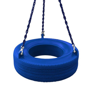 Residential Plastic Tire Swing Blue with Chain