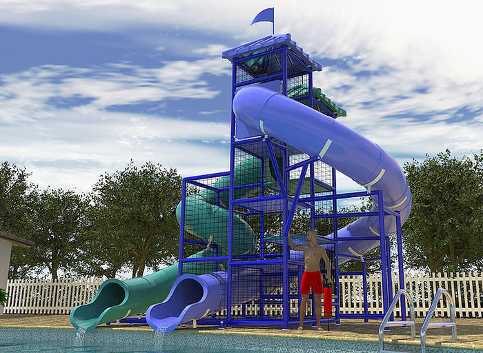 Commercial Water Slide 208