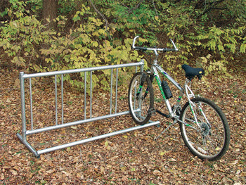 Single Entry Bicycle Rack - Permanent Holds 18 Bicycles