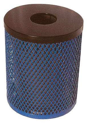 Diamond Metal Trash Receptacle with Liner